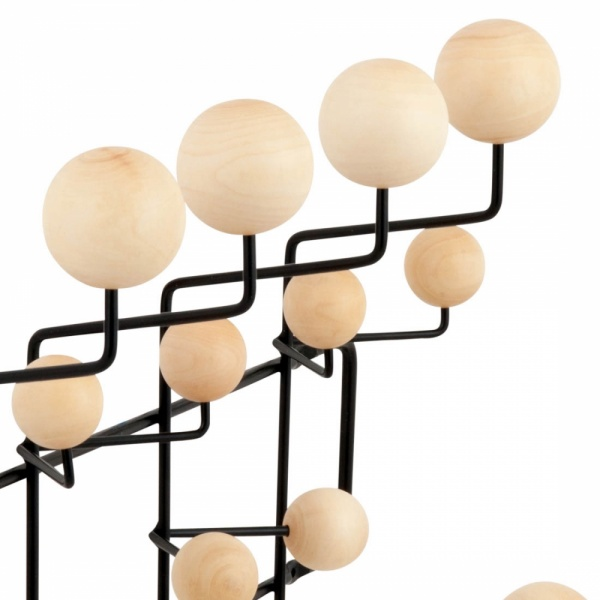 porte manteau hang it all noir avec boules en bois naturel cult uk. Black Bedroom Furniture Sets. Home Design Ideas