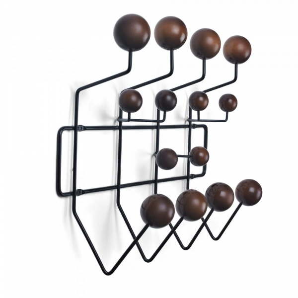 porte manteau hang it all noir avec boules en bois marron cult uk. Black Bedroom Furniture Sets. Home Design Ideas