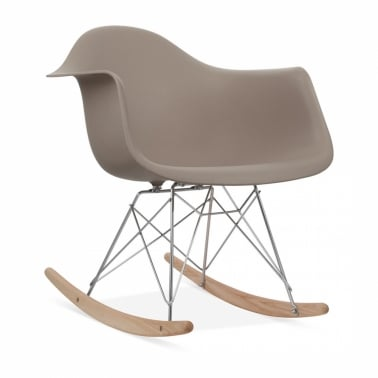 Rocking Chair de Style RAR Gris Chaud
