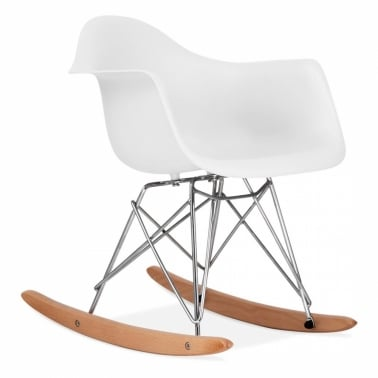Rocking Chair pour Enfant de Style RAR Blanc