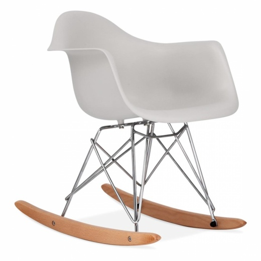 Iconic Designs Rocking Chair pour Enfant de Style RAR - Gris clair