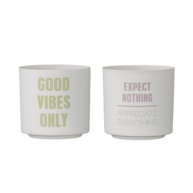 Set de 2 Bougeoirs Cult Home, Good Vibes