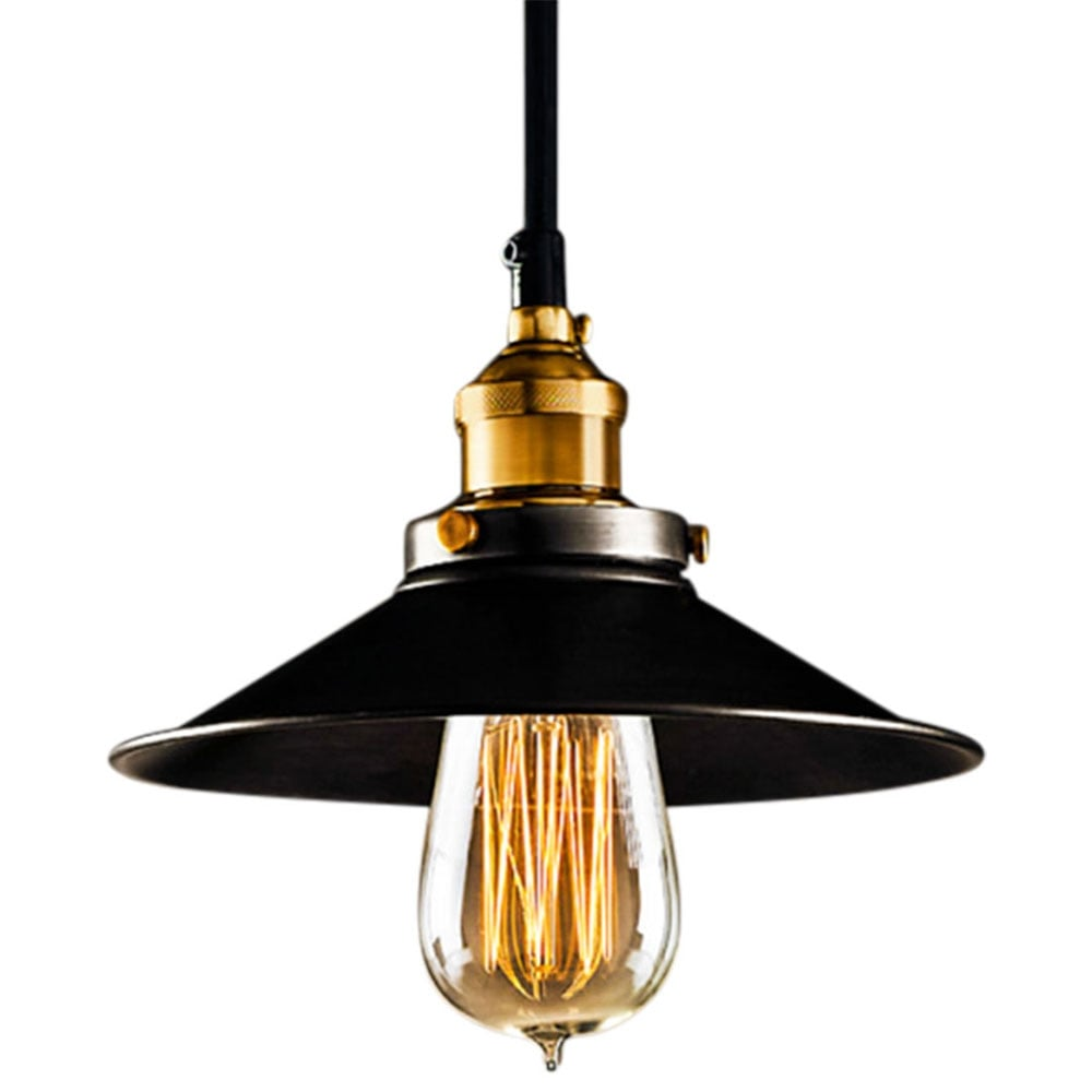 Suspension industrielle en m tal noire lampes - Suspension industrielle noire ...
