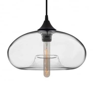 Suspension Industrielle Moderne Aurore – Transparent