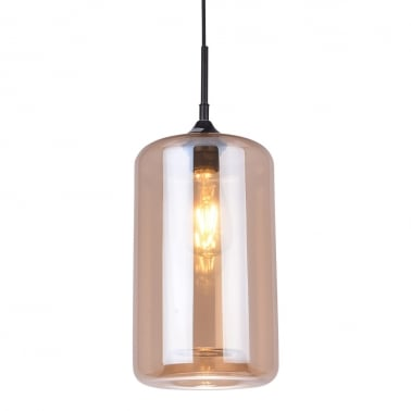 Suspension Industrielle Moderne Pod – Ambre