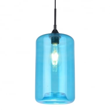 Suspension Industrielle Moderne Pod – Bleu Ciel