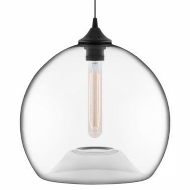 Suspension Moderne Globe Industrielle Edison - Transparent