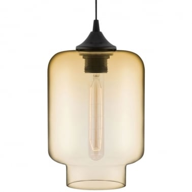Suspension Moderne Mercure Industrielle Edison - Ambre