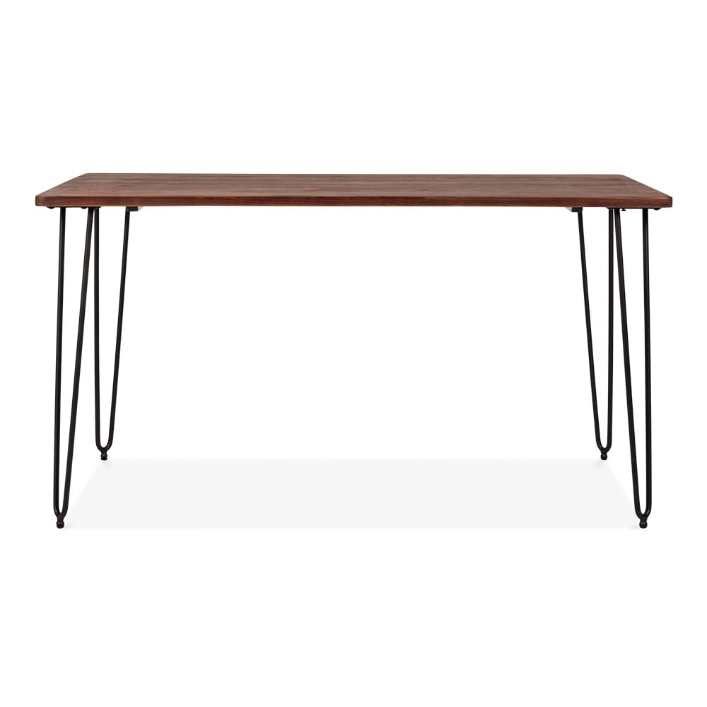 Cult living table pingle rectangulaire en bois fonc - Table en bois noir ...