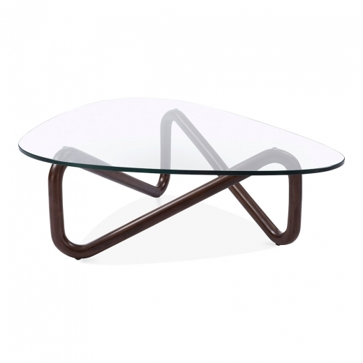 Cult Living Table Basse en Verre Infinity, Noyer