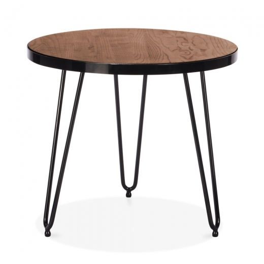 Cult Living Table d'Appoint Ronde Hairpin - Noyer 61cm