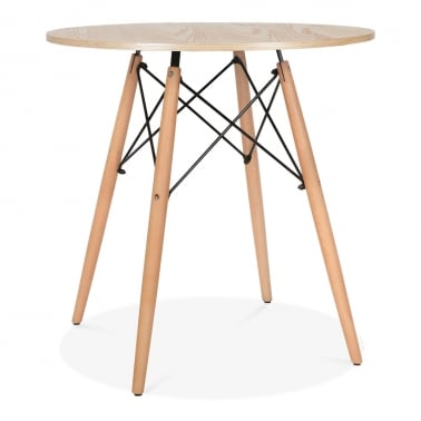 Table de Salle à Manger Naturel DSW Ronde – 70cm de Diamètre