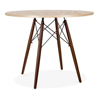 Table de Salle à Manger Naturel DSW Ronde – 90cm de Diamètre