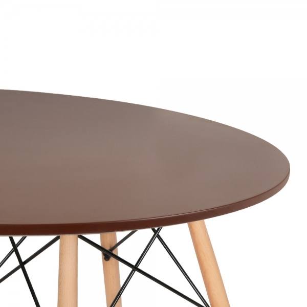 Noyer table de salle manger noyer dsw ronde 70cm de for Table salle a manger 70 cm de large