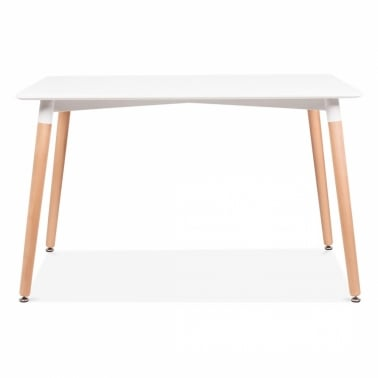 Table Edelweiss Rectangulaire – Blanc 120cm