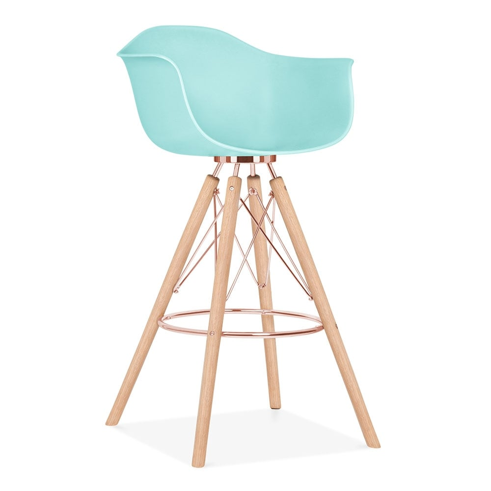 tabouret de bar avec accoudoirs moda cd3 bleu pastel par. Black Bedroom Furniture Sets. Home Design Ideas