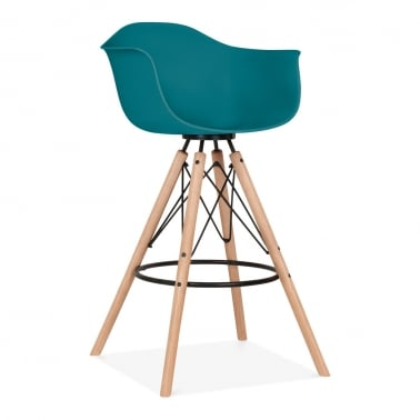 Tabouret de Bar avec Accoudoirs Moda CD3 - Bleu Sarcelle