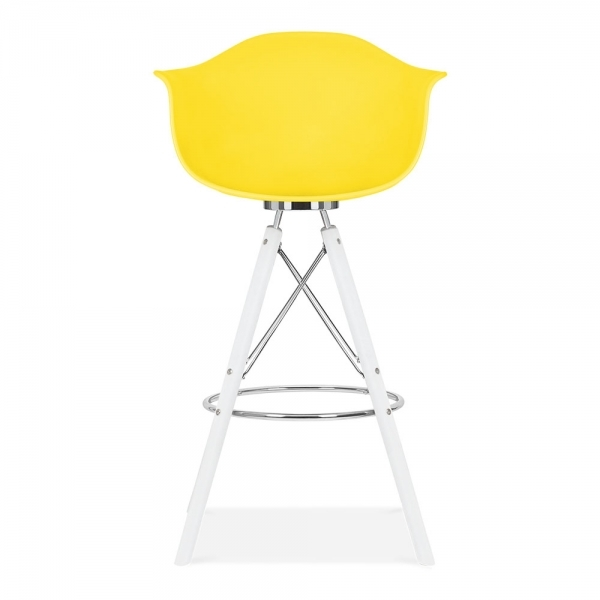tabouret de bar avec accoudoirs moda cd3 jaune par cult. Black Bedroom Furniture Sets. Home Design Ideas