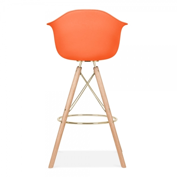 tabouret de bar avec accoudoirs moda cd3 orange par cult design cult fr. Black Bedroom Furniture Sets. Home Design Ideas