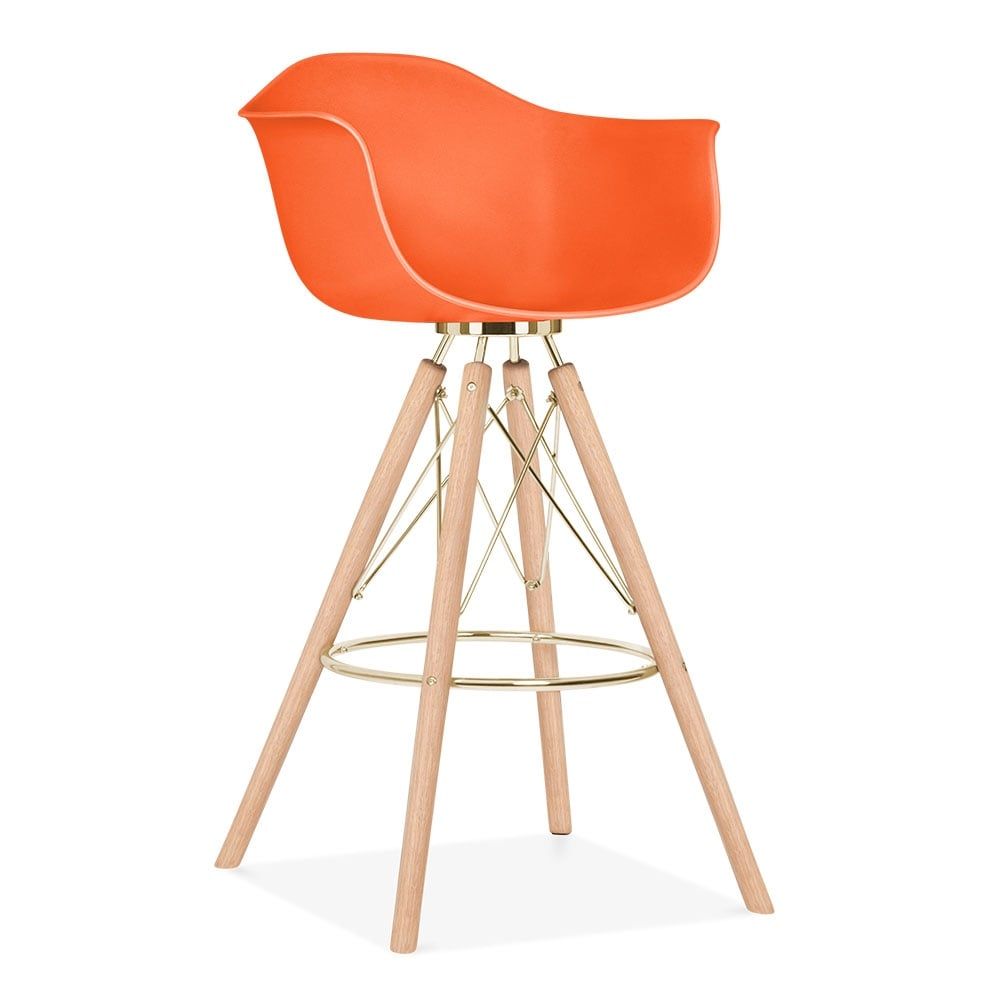 tabouret de bar avec accoudoirs moda cd3 orange par cult. Black Bedroom Furniture Sets. Home Design Ideas