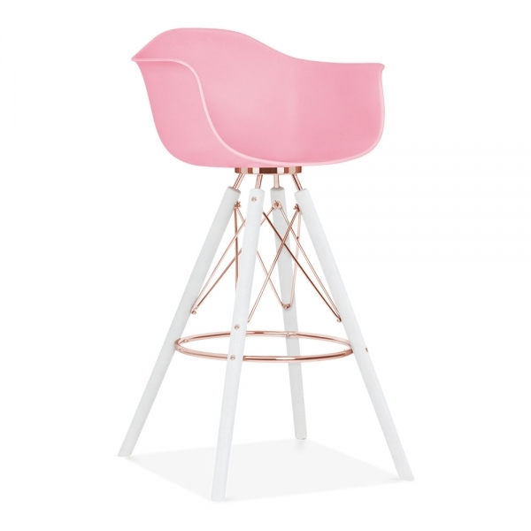 tabouret de bar avec accoudoirs moda cd3 rose bonbon par cult design cult fr. Black Bedroom Furniture Sets. Home Design Ideas