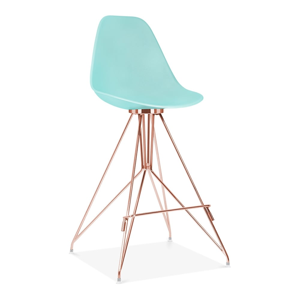 cult design tabouret de bar avec dossier moda cd1 bleu pastel cult fr. Black Bedroom Furniture Sets. Home Design Ideas