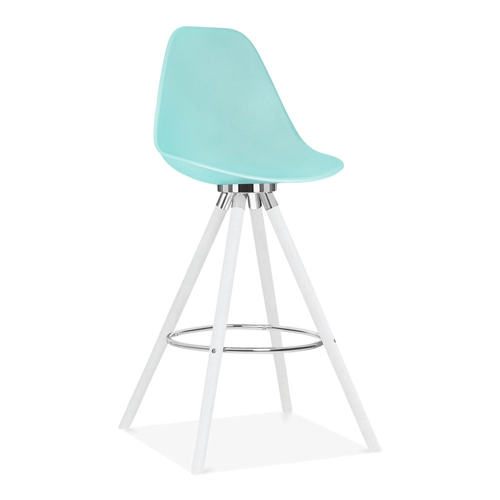 tabouret de bar avec dossier de moda cd2 bleu pastel par. Black Bedroom Furniture Sets. Home Design Ideas