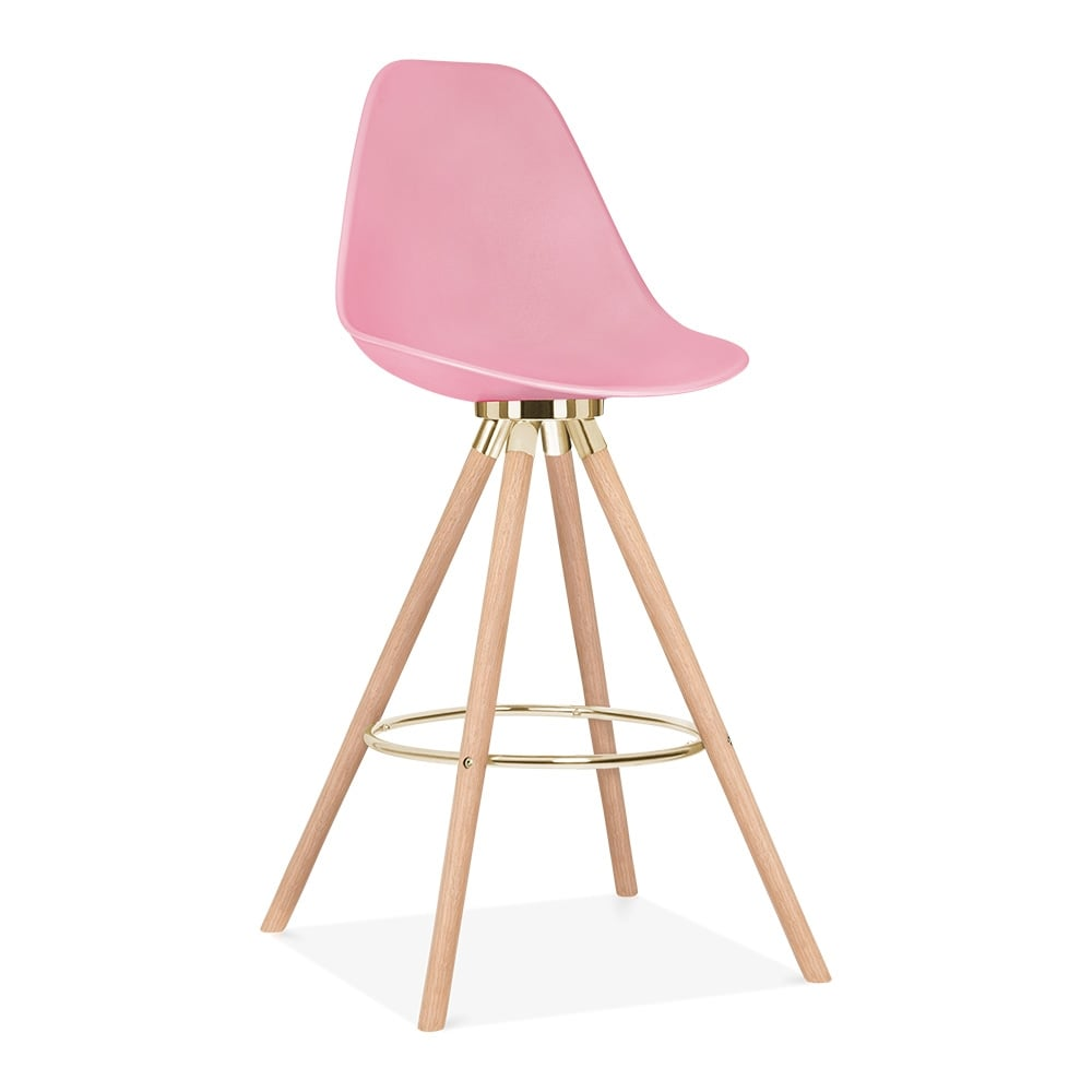 tabouret de bar avec dossie de moda cd2 rose bonbon par. Black Bedroom Furniture Sets. Home Design Ideas