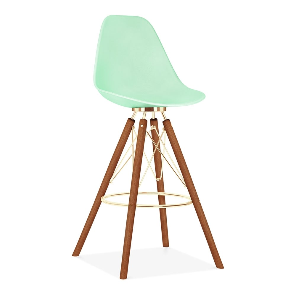 tabouret de bar avec dossier moda cd3 vert pastel par cult. Black Bedroom Furniture Sets. Home Design Ideas