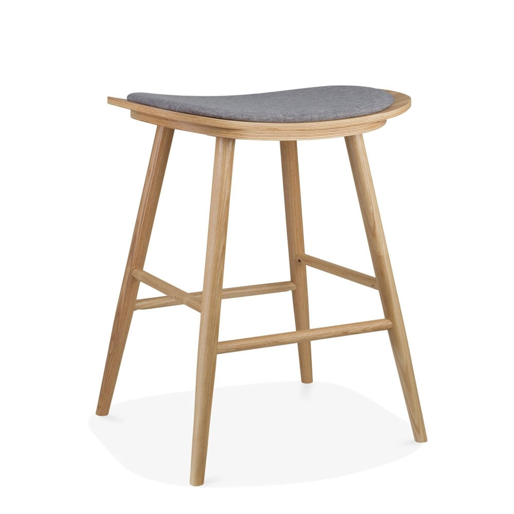 gris tapiss tabouret de bar en bois aldo 66cm meubles. Black Bedroom Furniture Sets. Home Design Ideas