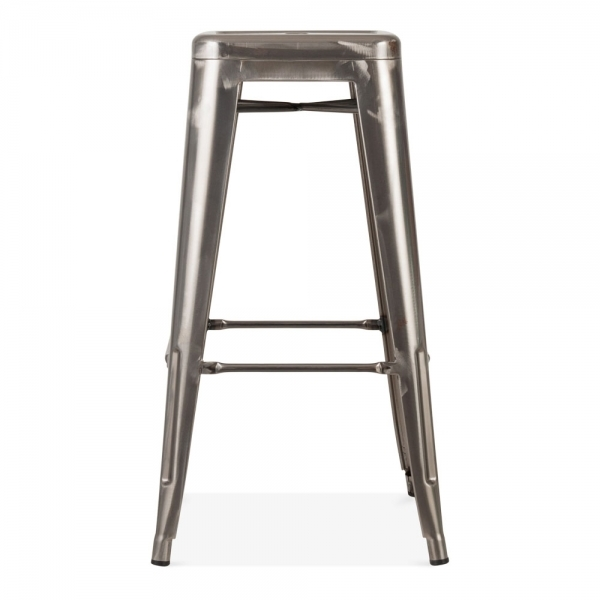 tabouret de style tolix en gris acier brut industriel cult furniture. Black Bedroom Furniture Sets. Home Design Ideas