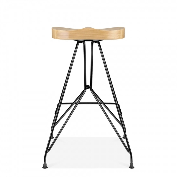 noir 66cm tabouret de bar en m tal moda cd1 assise en. Black Bedroom Furniture Sets. Home Design Ideas