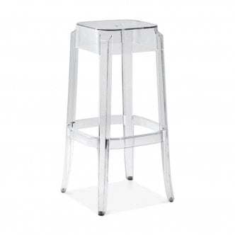 Tabouret de Bar en Plastique Ghost, Transparent 75cm