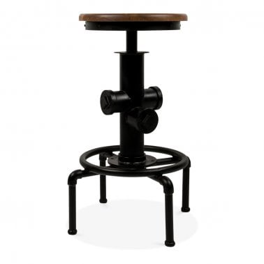 Tabouret de Bar Houston en Métal Noir  75cm