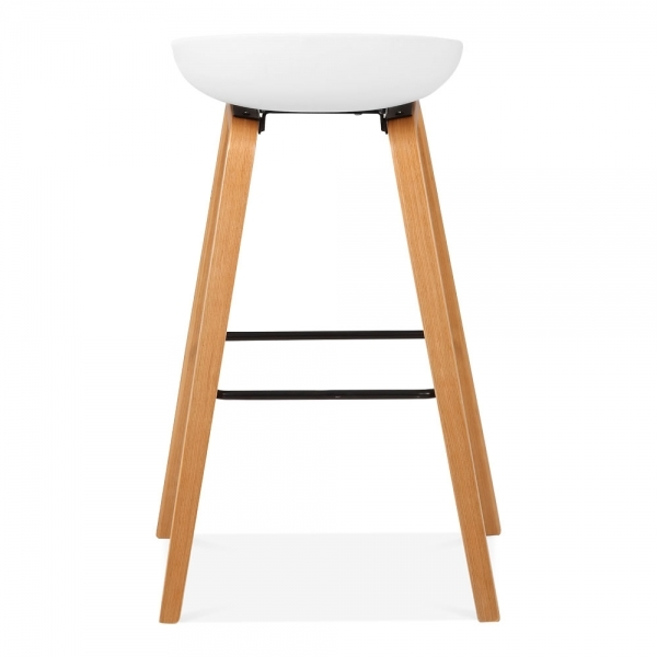 tabouret de bar milano bois naturel et blanc avec pieds de 72cm tabourets de cuisine. Black Bedroom Furniture Sets. Home Design Ideas