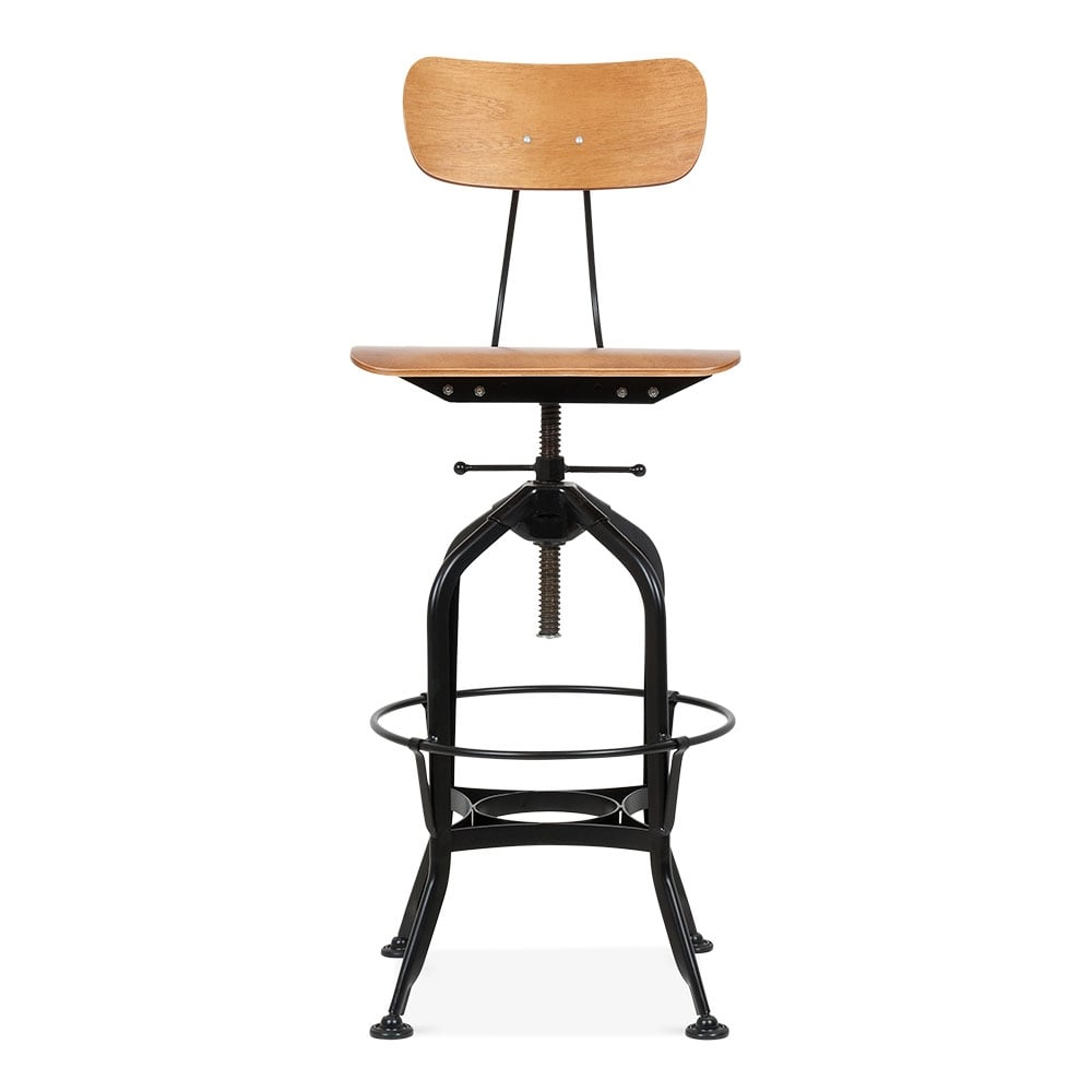 tabouret de bar noir vintage de style toledo de 64 74cm cult uk. Black Bedroom Furniture Sets. Home Design Ideas