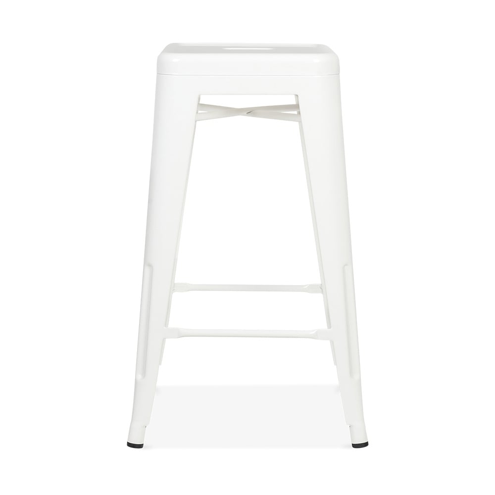 tabouret de style tolix blanc 65cm tabourets de restaurant cult uk. Black Bedroom Furniture Sets. Home Design Ideas