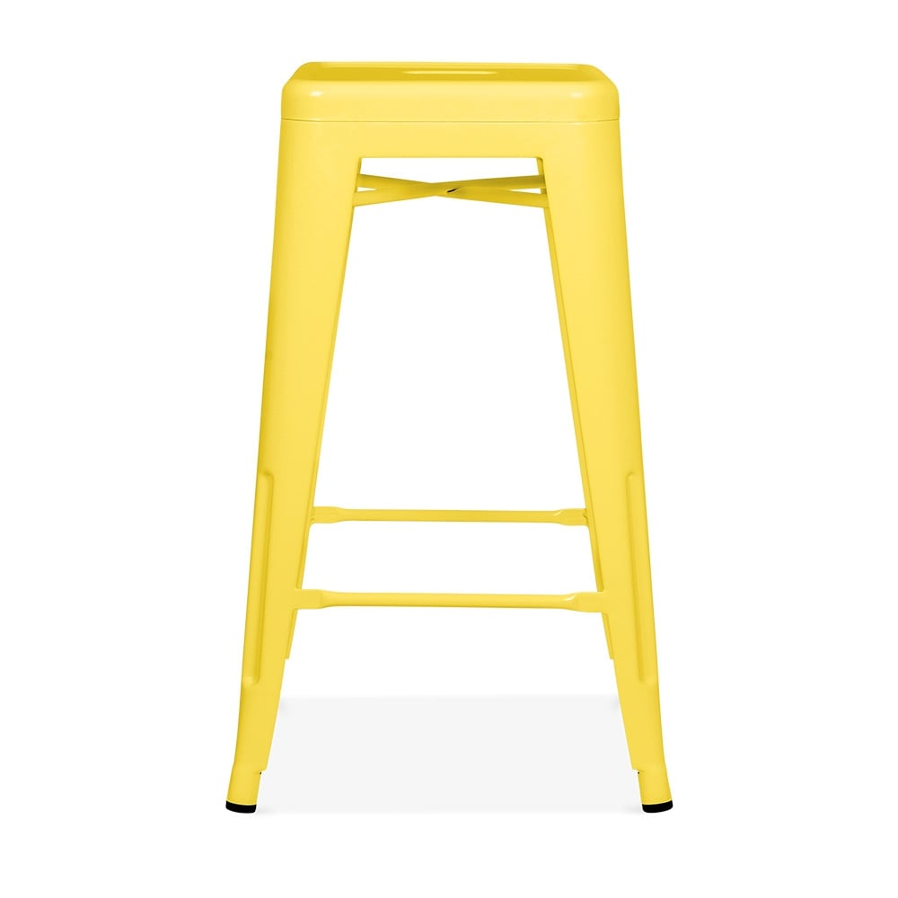 tabouret de style tolix jaune 65cm tabourets design. Black Bedroom Furniture Sets. Home Design Ideas