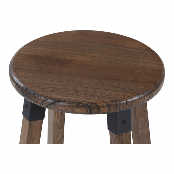 tabouret haut rond en bois marron bastille cult furniture fr. Black Bedroom Furniture Sets. Home Design Ideas
