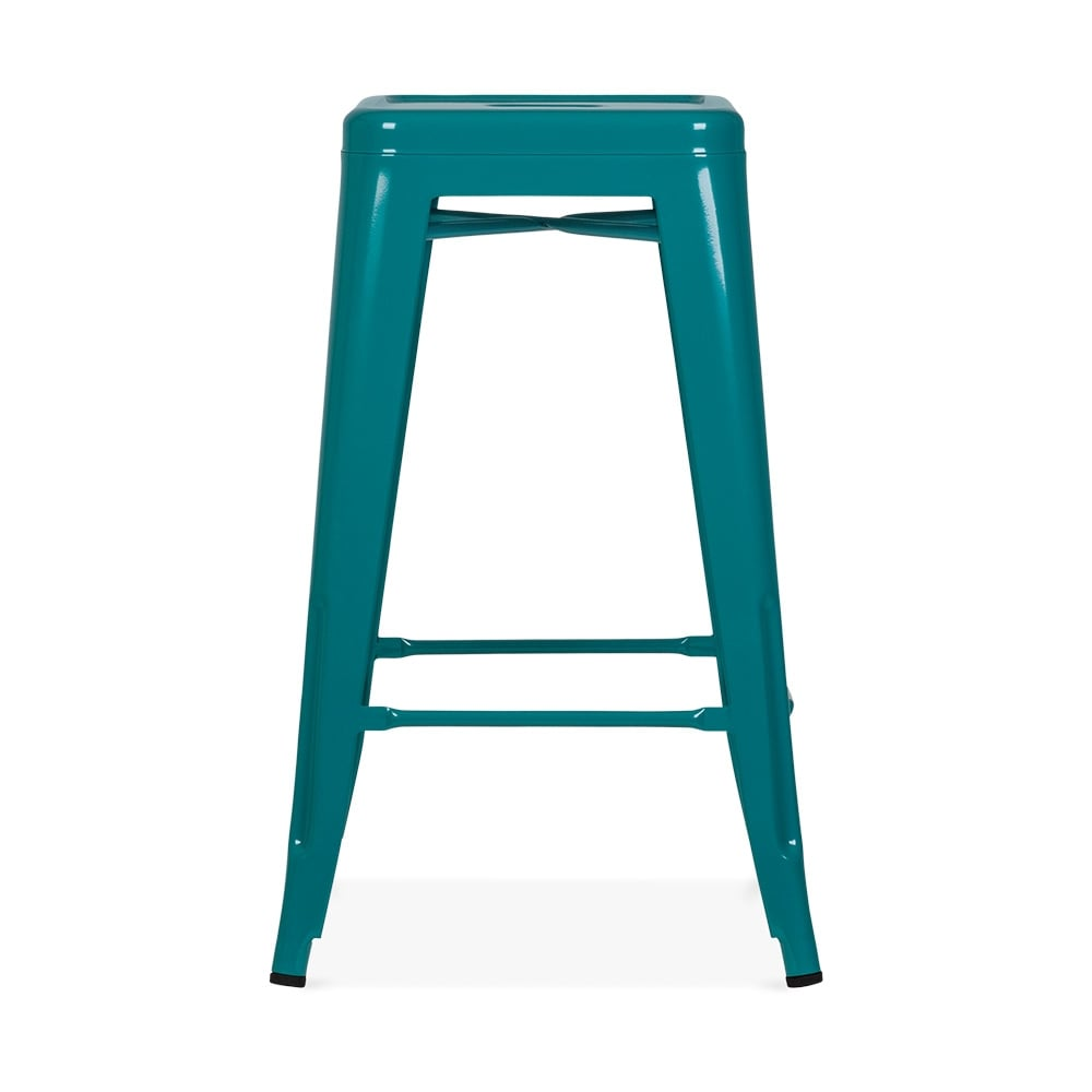 tabouret de style tolix teal 65cm tabourets de bar design cult uk. Black Bedroom Furniture Sets. Home Design Ideas