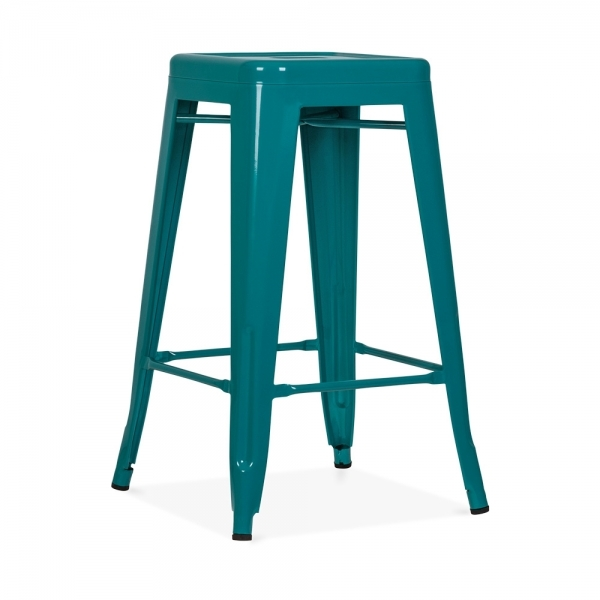 tabouret de style tolix teal 65cm tabourets de bar. Black Bedroom Furniture Sets. Home Design Ideas