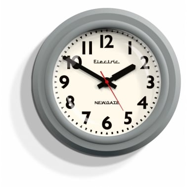 The Telectric Wall Clock - Clockwork Grey