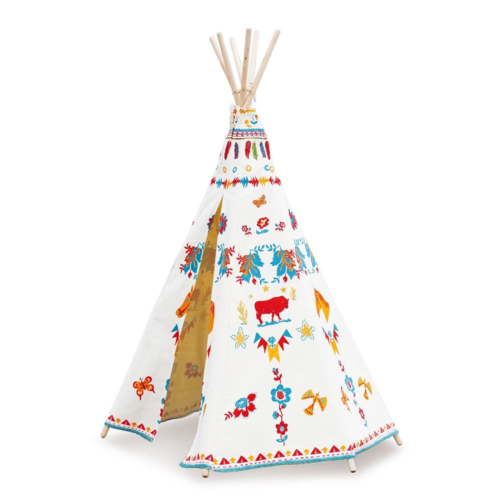 tipi d indien vilac pour enfants toile blanche cult furniture fr. Black Bedroom Furniture Sets. Home Design Ideas