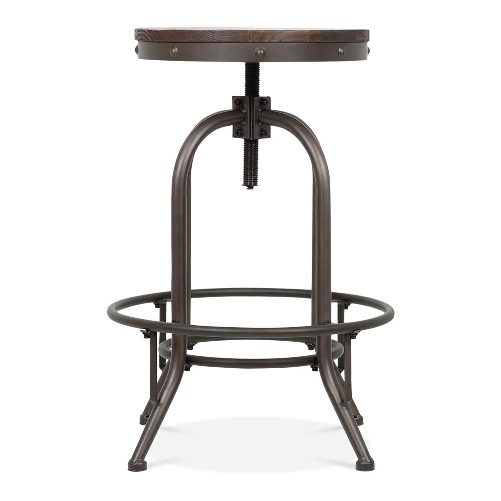 tabouret de bar pivotant en m tal trax par toledo style rustique 65cm cult fr. Black Bedroom Furniture Sets. Home Design Ideas